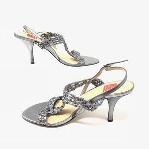 Oscar De La Renta Cosima Leather Heel Sz 7.5